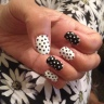 Black and white polkadot